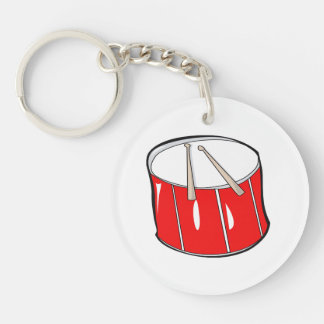 drum red  handdrawn look.png Double-Sided round acrylic keychain