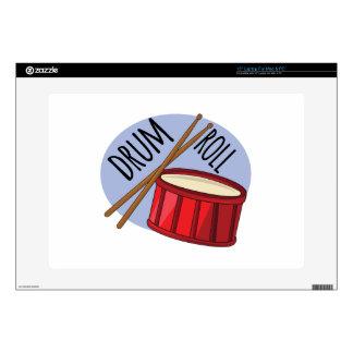 "Drum Roll 15"" Laptop Skins"