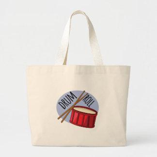 Drum Roll Large Tote Bag