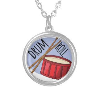 Drum Roll Round Pendant Necklace