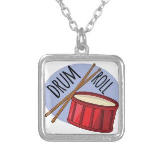 Drum Roll Square Pendant Necklace
