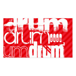 Drum; Scarlet Red Stripes Business Card