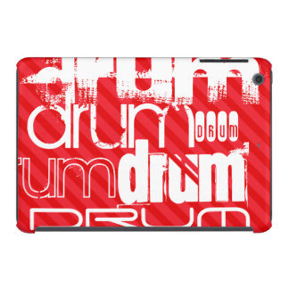 Drum; Scarlet Red Stripes iPad Mini Retina Case