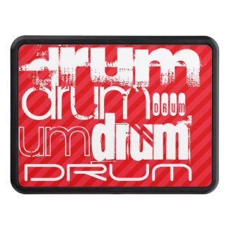 Drum; Scarlet Red Stripes Hitch Cover