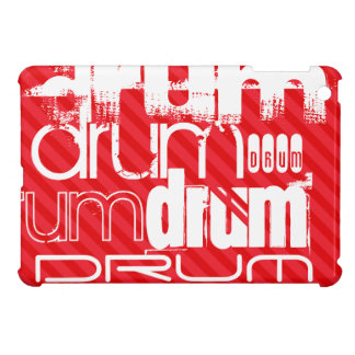 Drum; Scarlet Red Stripes iPad Mini Cover