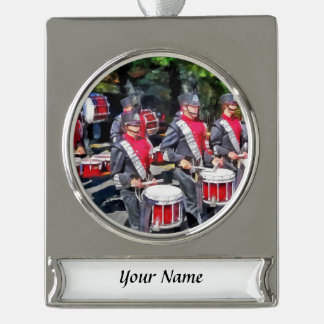 Drum Section Silver Plated Banner Ornament