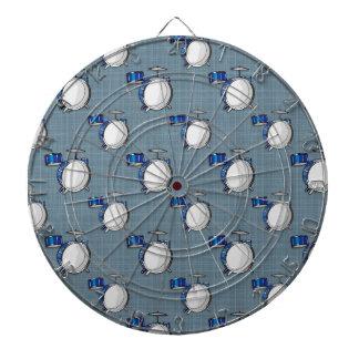 Drum Set; Blue Dart Board