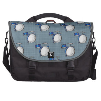 Drum Set Blue Commuter Bag