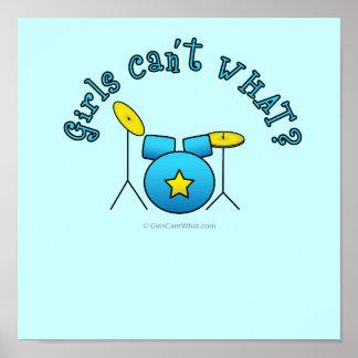 Drum Set - Blue Print