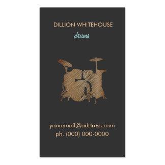 Drum Set  Business Card