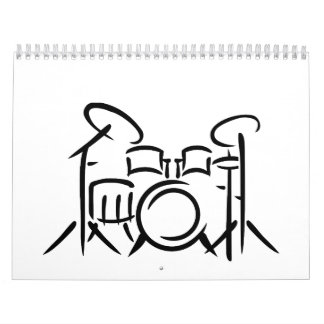 Drum set calendar