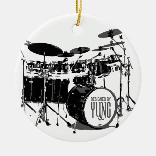 Drum Set Ceramic Ornament