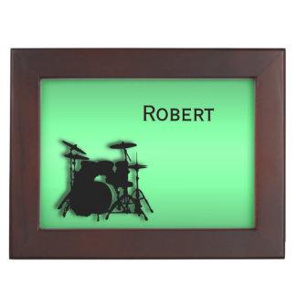 Drum Set Custom Green Memory Box
