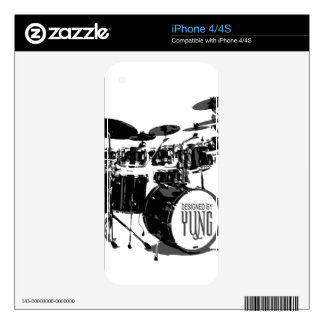 Drum Set Custom Skin Skins For The iPhone 4