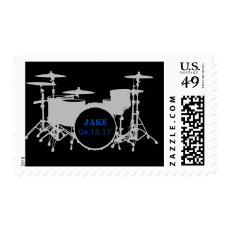 drum set customizeable stamp