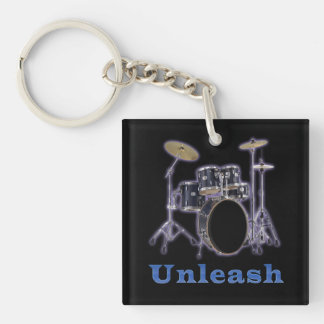 Drum set designs Double-Sided square acrylic keychain