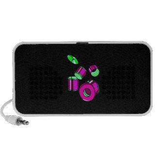 Drum Set Graphic Purple  image design Travelling Speaker