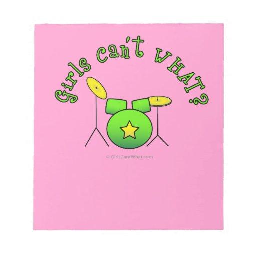 Drum Set - Green Memo Pad