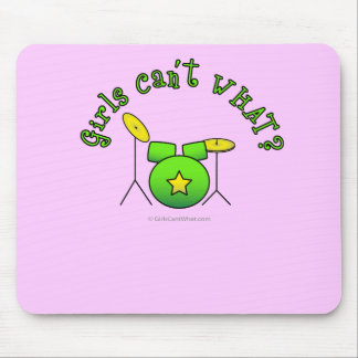 Drum Set - Green Mouse Pad