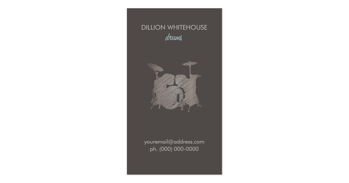 Drum Set Groupon Business Card