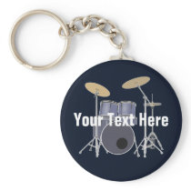 Drum Set Keychain
