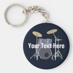 Drum Set Keychain at Zazzle