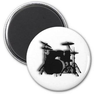 Drum Set Music Design Magnet