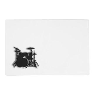 Drum Set Music Design Placemat
