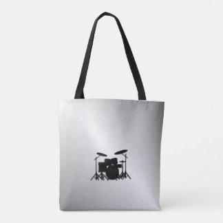 Drum Set Music Design Tote Bag