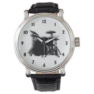 Drum Set Music Design Watch