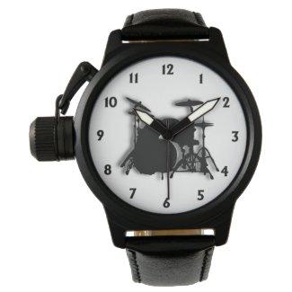Drum Set Music Design Wristwatches