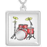 Drum Set Necklace