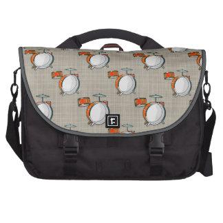 Drum Set Orange Drums Commuter Bags
