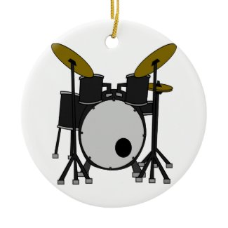 Drum Set Christmas Tree Ornaments