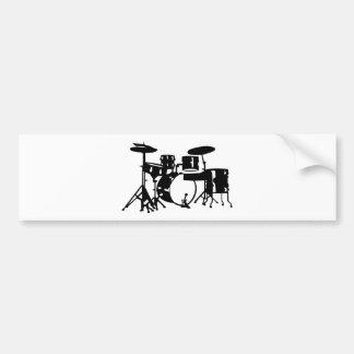 Drum set percussion bumper stickers