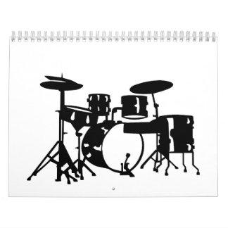 Drum set percussion calendar