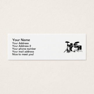 Drum set percussion mini business card