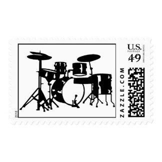 Drum set percussion postage