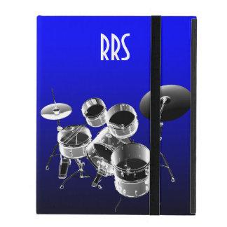 Drum Set Personalized Monogram Gift iPad Folio Case