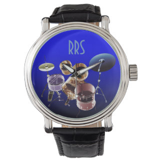 Drum Set Personalized Monogram Gift Watch