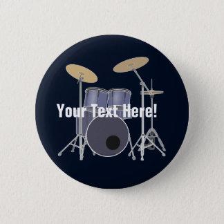 Drum Set Pinback Button