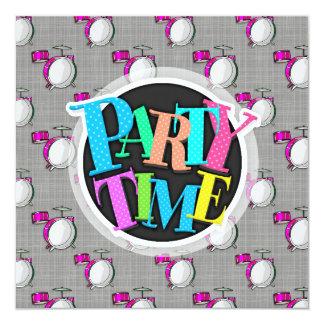 Drum Set; Pink Drums Card