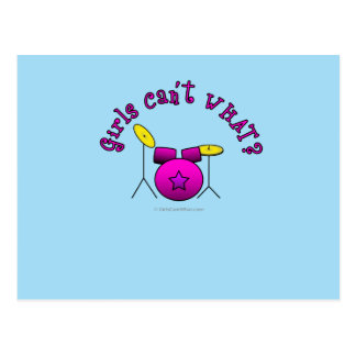 Drum Set - Pink Postcard