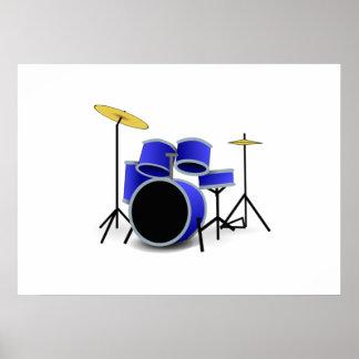 Drum Set Poster