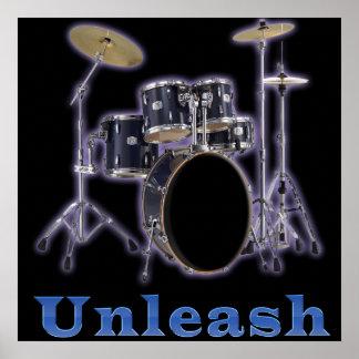 Drum set posters art
