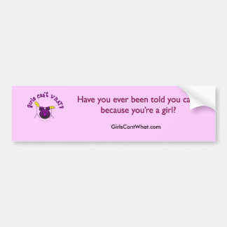 Drum Set - Purple Bumper Sticker