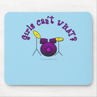 Drum Set - Purple Mouse Pad