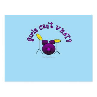 Drum Set - Purple Postcard