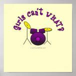 Drum Set - Purple Poster