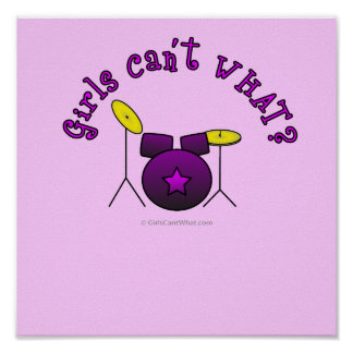 Drum Set - Purple Print